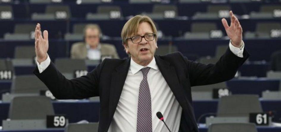 Guy Verhofstadt à l'europarlement
