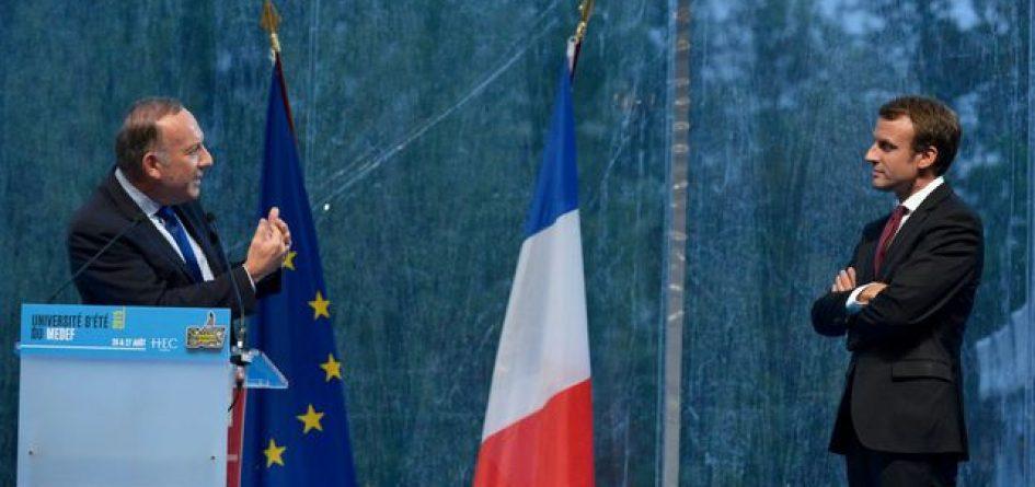 Gattaz conseillant Macron