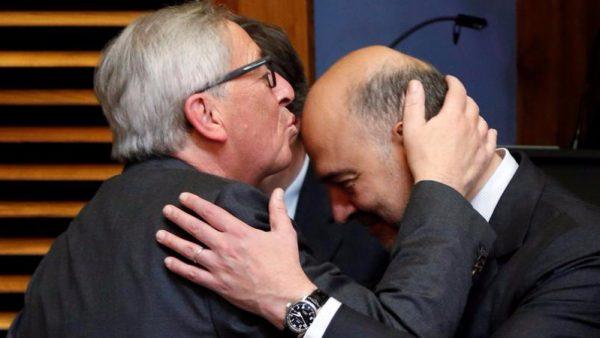Le président de la Commission et son commissaire à l'Economie