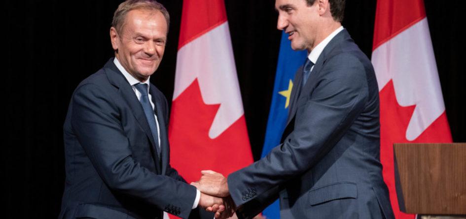 CETA Tusk et Trudeau