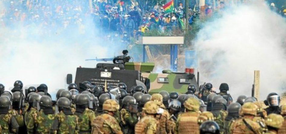 Manifestation pour Evo Morales