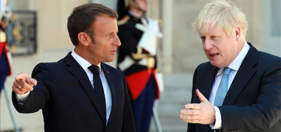 Emmanuel Macron et Boris Johnson