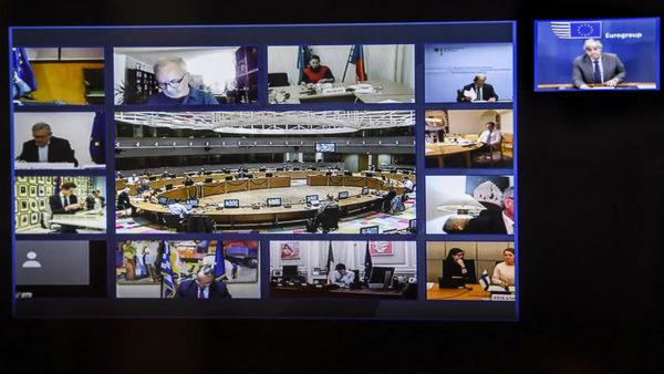 Vidéoconférence eurogroupe
