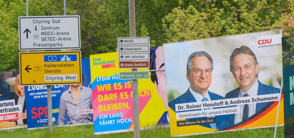 élections saxe-anhalt